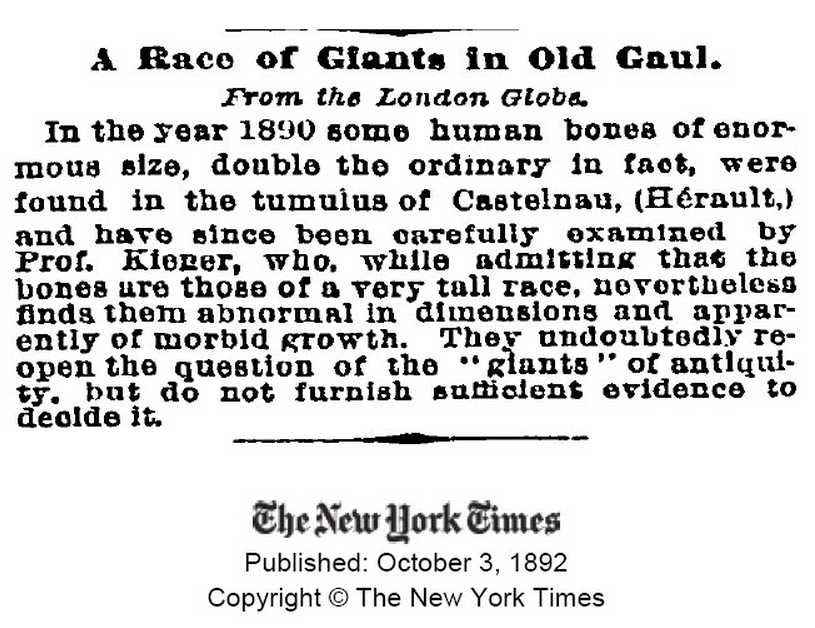 Giants in Old Gaul